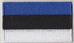 Estonia Embroidered Flag Patch, style 04.